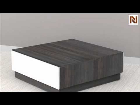 nexera allure u0026 home office coffee table with hidden storage - Nexera