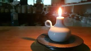 호롱불 ceramic lamp #불멍