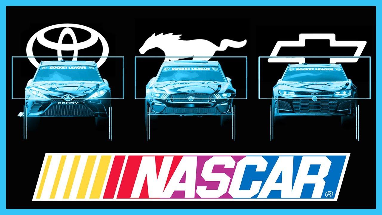NASCAR x Rocket League Hitbox Visualization [1.96] | Toyota Camry, Ford Mustang, Chevrolet Camaro
