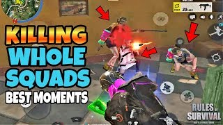 Destroying Whole Squads Montage! Best Moments! Rules of Survival