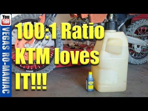 Extreme 2 stroke 100:1 Oil mixture KTM 250 XC- AMSOIL - YouTube