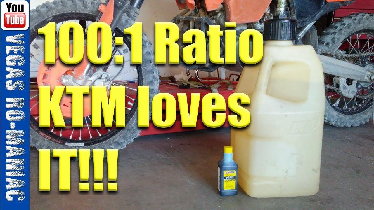 Extreme 2 stroke 100:1 Oil mixture KTM 250 XC- AMSOIL