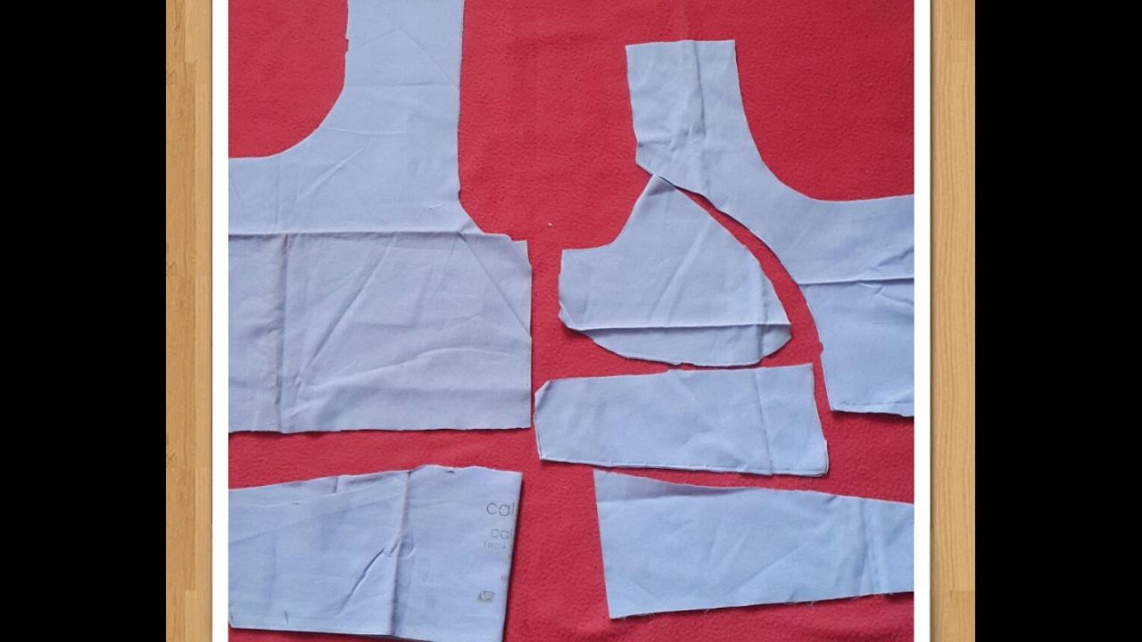 5fb4281231a3e Easy double Katori cut blouse cutting ( Hindi) - YouTube