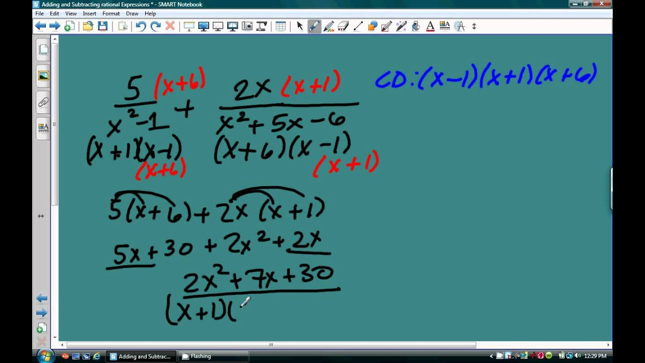 Adding And Subtracting Rational Expressions And Complex Fractions