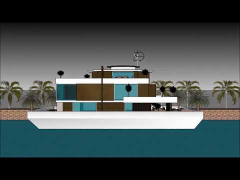 Scottish Houseboat Glasgow SCOTLAND floating Luxury Home on the waterfront floating architecture
