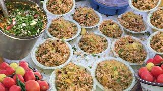 Patriotic Folks Enjoying Chatpati Bhel Near Wagah Border For Just Rs10 | Street Food Amritsar