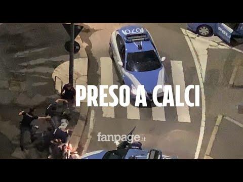 Milano, arrestato per una tentata rapina e preso a calci mentre è immobilizzato da un poliziotto