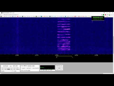 "EAM Message at 11175 kHz, Call Sign ""Auto Shop"""