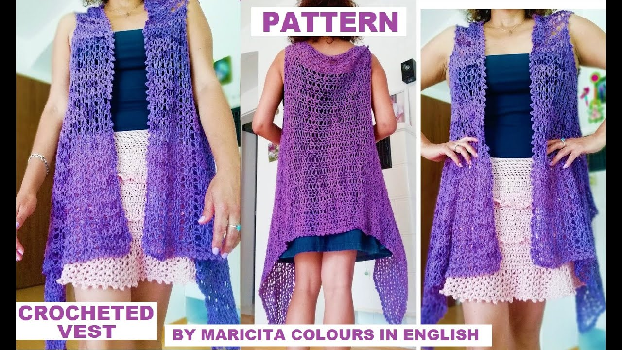 Vest Boho Style Crochet Pattern By Maricita Colours In English Youtube