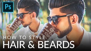 How to Style Hair & Beards in Photoshop
