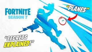 *NEW* FORTNITE SEASON 7 TEASER 3 EXPLAINED SECRETS! + PLANES + ZIPLINE! (Map Changes Coming!)