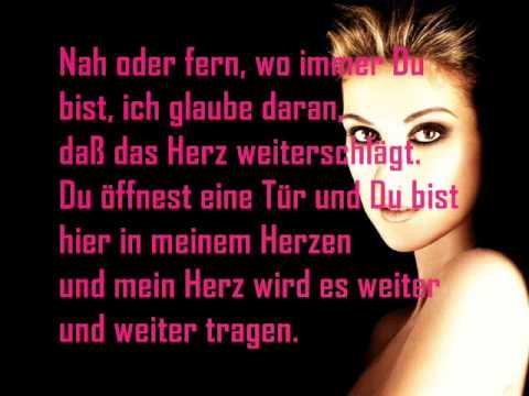 Celine Dion My heart will go on Deutsche Übersetzung