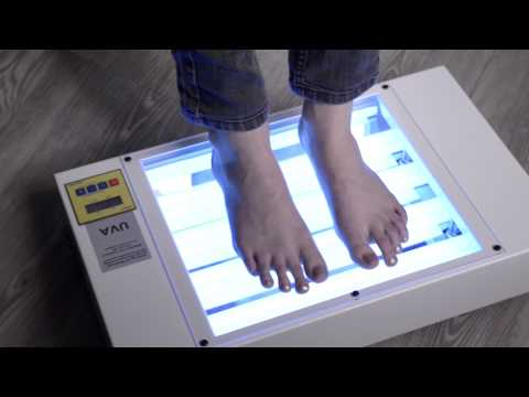 UV-therapy device for treatment of psoriasis, eczema and vitiligo on  hands and feet