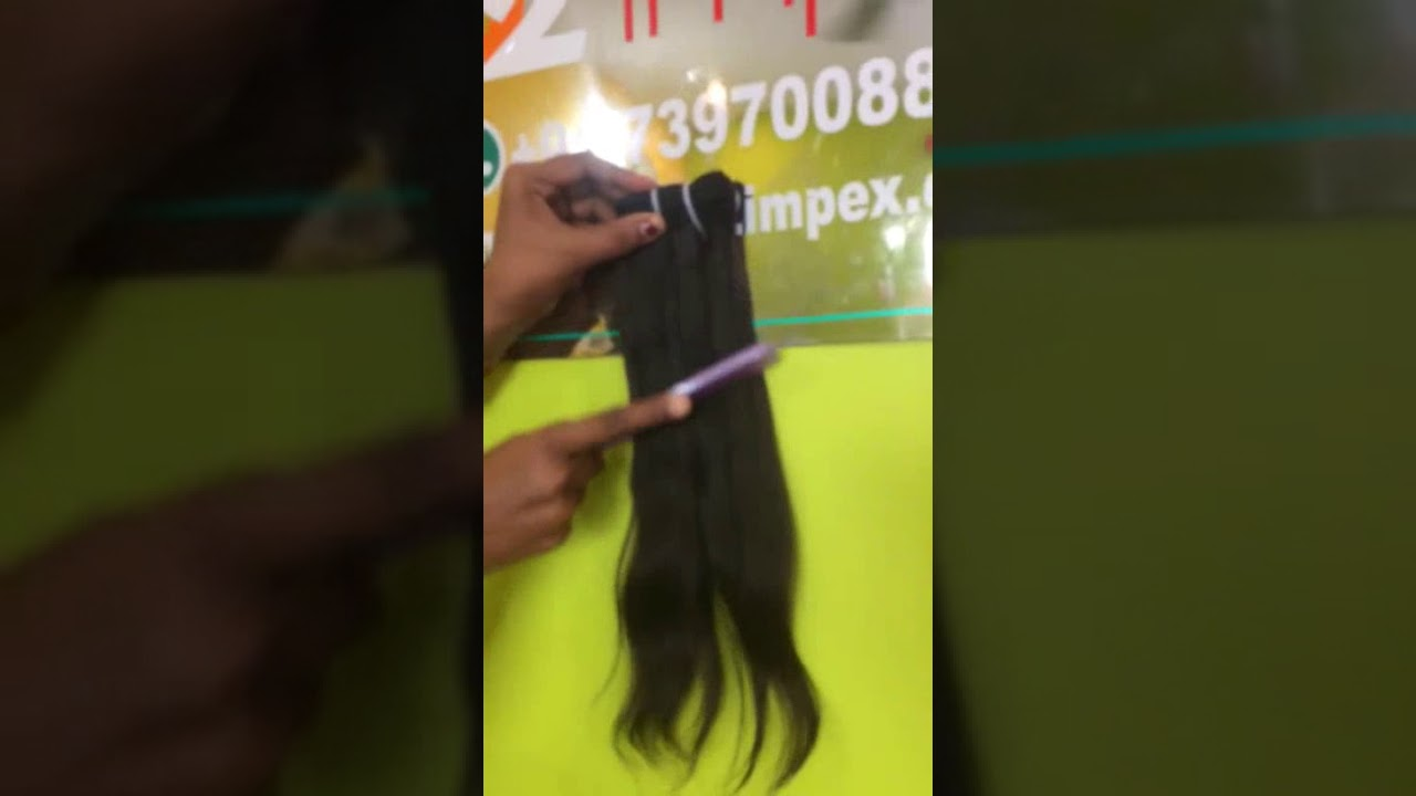 Indian Natural Straight Human Hair Extensions Youtube
