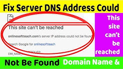 Solved - How to Fix Server DNS Address Could Not Be Found in Macbook Air & Macbook Pro