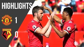 Manchester United 1-0 Watford | Highlights | Premier League (17/18)