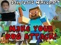 Minecraft How to Make Your Dog ATTACK on command to protect you