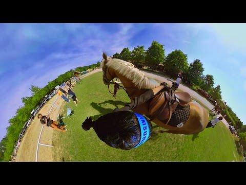 360° video Parkour horse riding