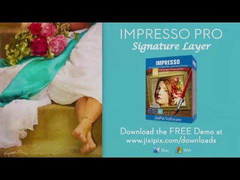 Impresso Pro - Sign Your Painting Using The Signature Layer