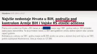 Najviše nedostaje Hrvata u BiH, područja pod kontrolom Armije BiH i Vojske RS etnički očišćena