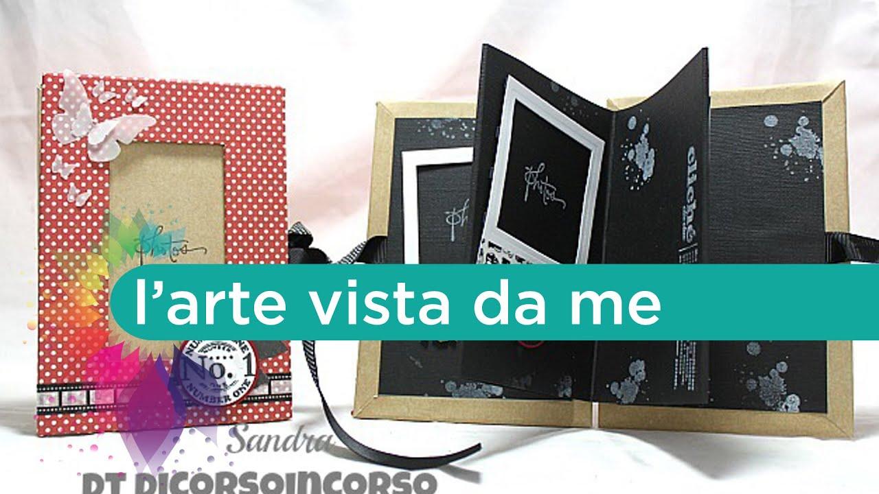 Eccezionale Scrapbooking tutorial:mini album laurea-Idea regalo-Portafoto fai  HT04