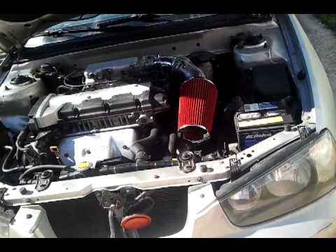 Hyundai Elantra 2001 Intake Spectre Rice Burner Youtube