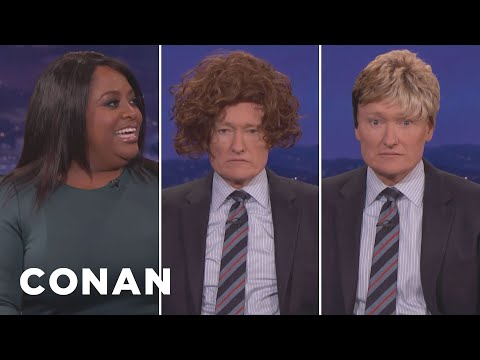 Sherri Shepherd Shows Conan How To Rock A Wig  - CONAN on TBS