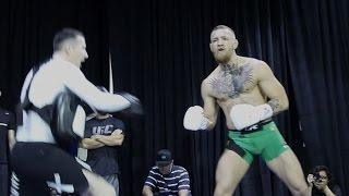 AMAZING CONOR MCGREGOR NO LOOK PADWORK | UFC 196