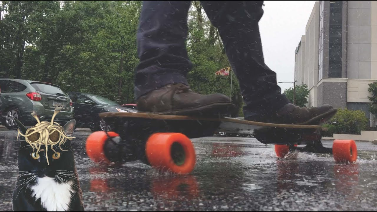 Image result for boosted board rain