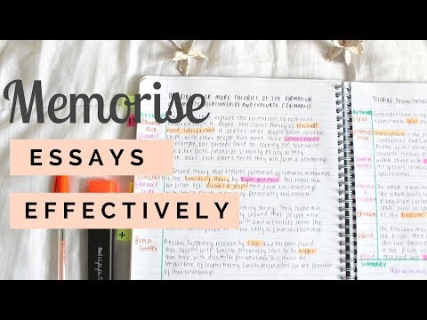 How To Memorise ESSAYS More Quickly And Effectively || STUDENT BOSS