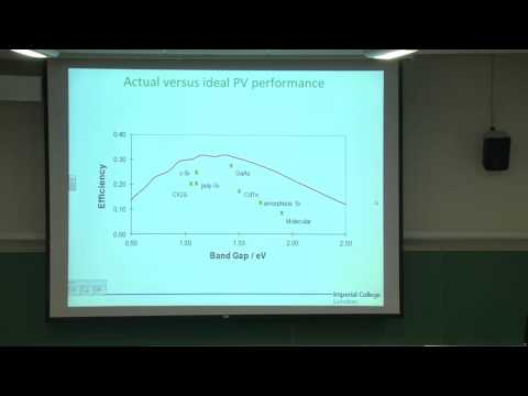 Future Approaches to Photovoltaic Energy Conversion - Professor Jenny Nelson
