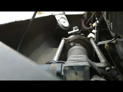 Лебедка рвет трос стальной при 120 барах. 8 мм
