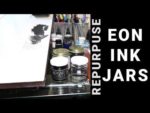 REPURPOSING INK JARS - Eon Vortex India Ink