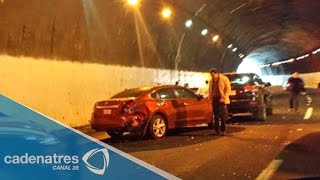 Caos en la carretera México-Toluca tras carambola vehicular