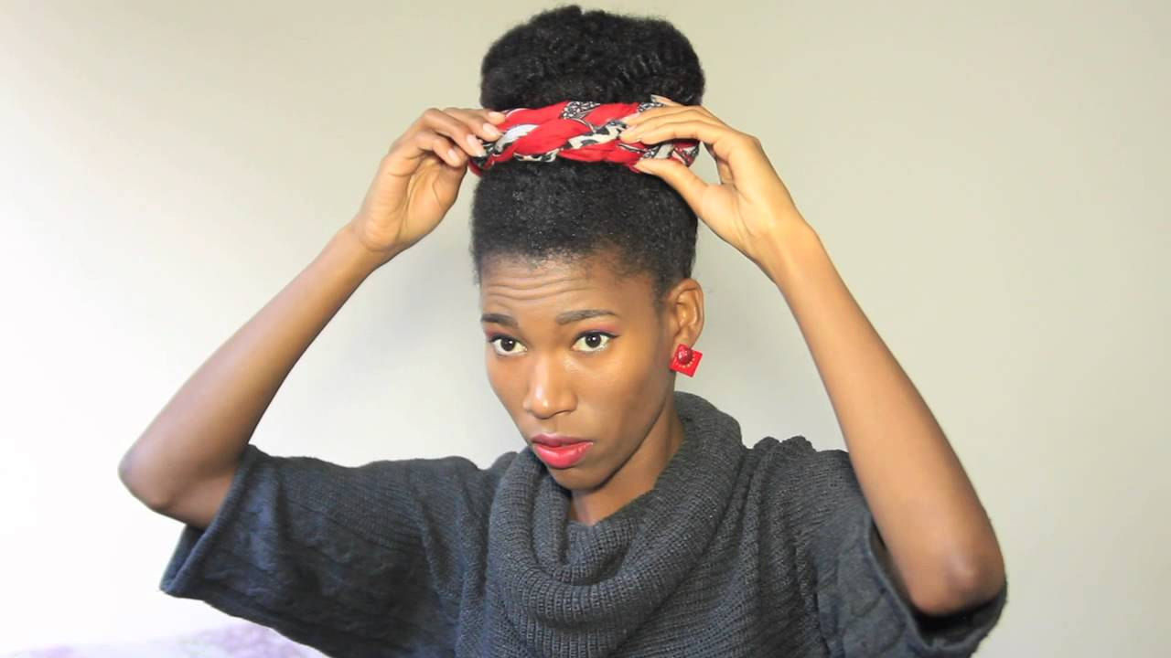 3 Head Scarf Styles For Natural Hair -KashTV - YouTube