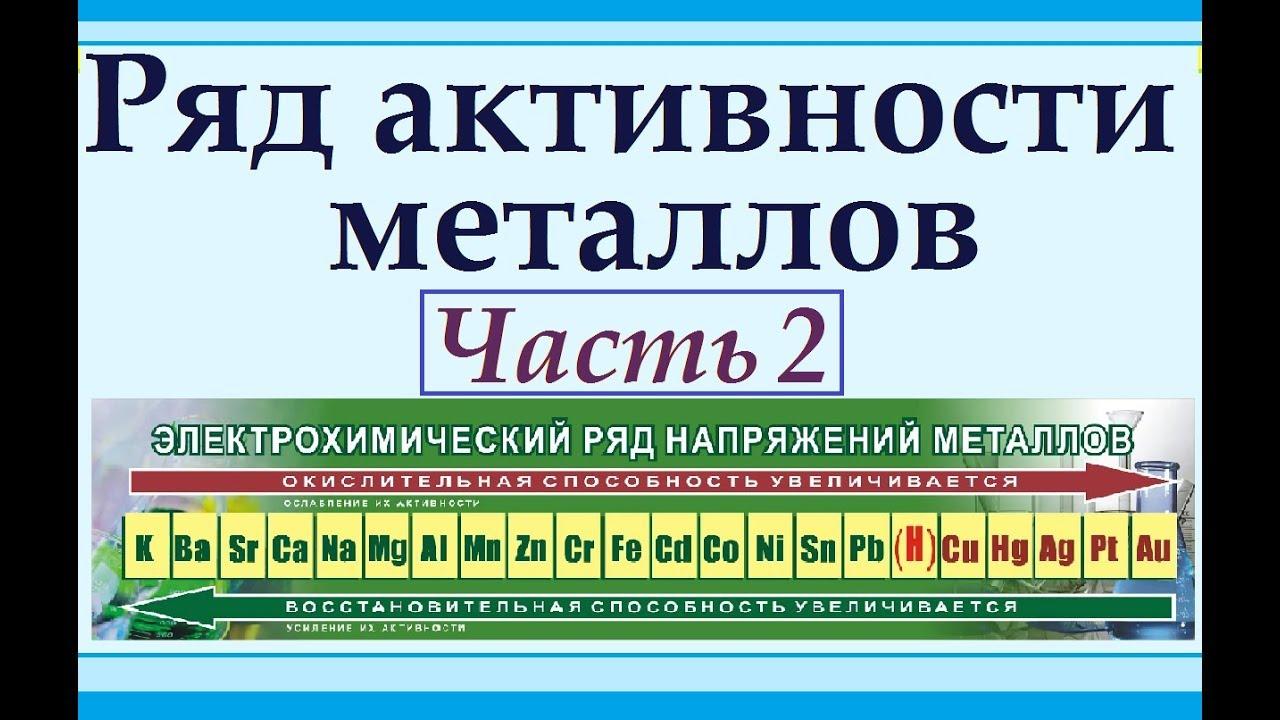 Ряд активности металлов. Часть 2. Особенности строения и отличия от ПСХЭ Менделеева.