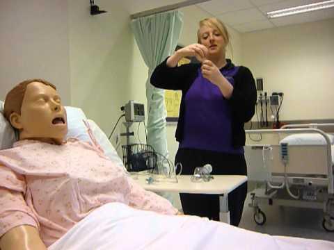 Administering Ventolin using a nebuliser