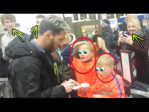 La increíble reacción de dos niños al conocer a Lionel Messi en persona