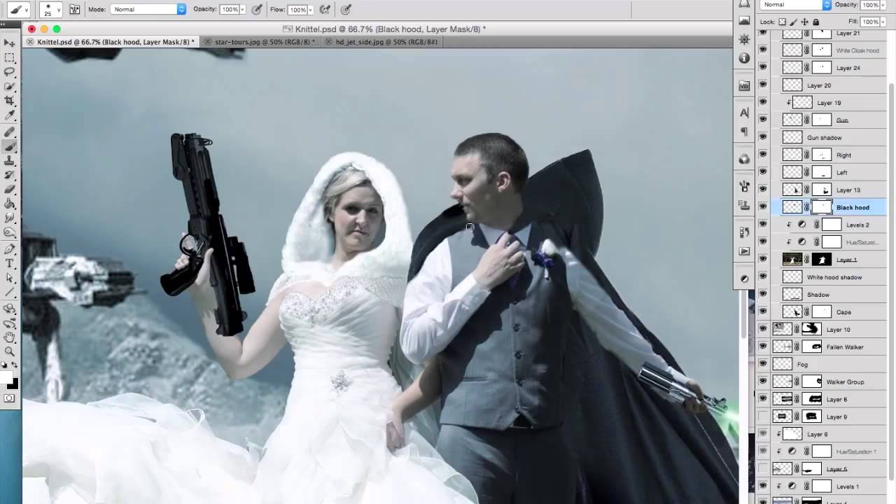 photoshop starwars - YouTube