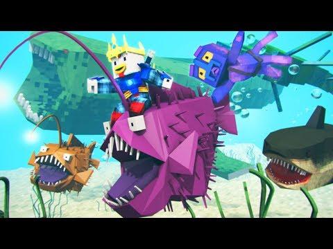 KRAKEN KID FINDS ME! - Minecraft Atlantis (Ep 1)