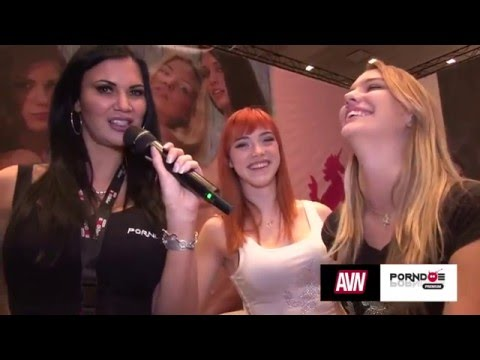 PornDoe Premium interview with Kenna James and Anny Aurora @ the AEE Expo 2016