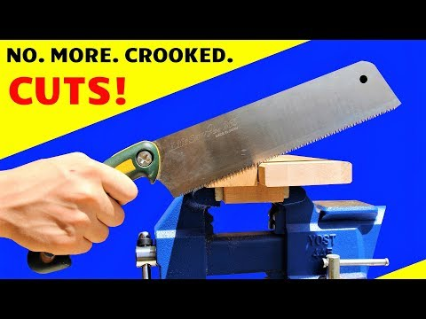 DIY Magnetic Handsaw Cutting Guide - Cutting Straight & Square is Easy WITHOUT Expensive Tools!