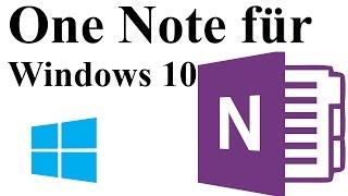 OneNote für Windows 10 - Funktionen und Grundlagen [DEUTSCH]