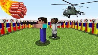 НУБ И ПРО ПРОТИВ АРМИЯ ИЗ 10000 СТРАШНЫХ КЛОУНОВ В МАЙНКРАФТ ! Троллинг Ловушка и Мультик Minecraft
