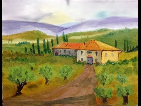 Paint Along with Larry Hamilton - March-19-2014 -Tuscan Country House for Class