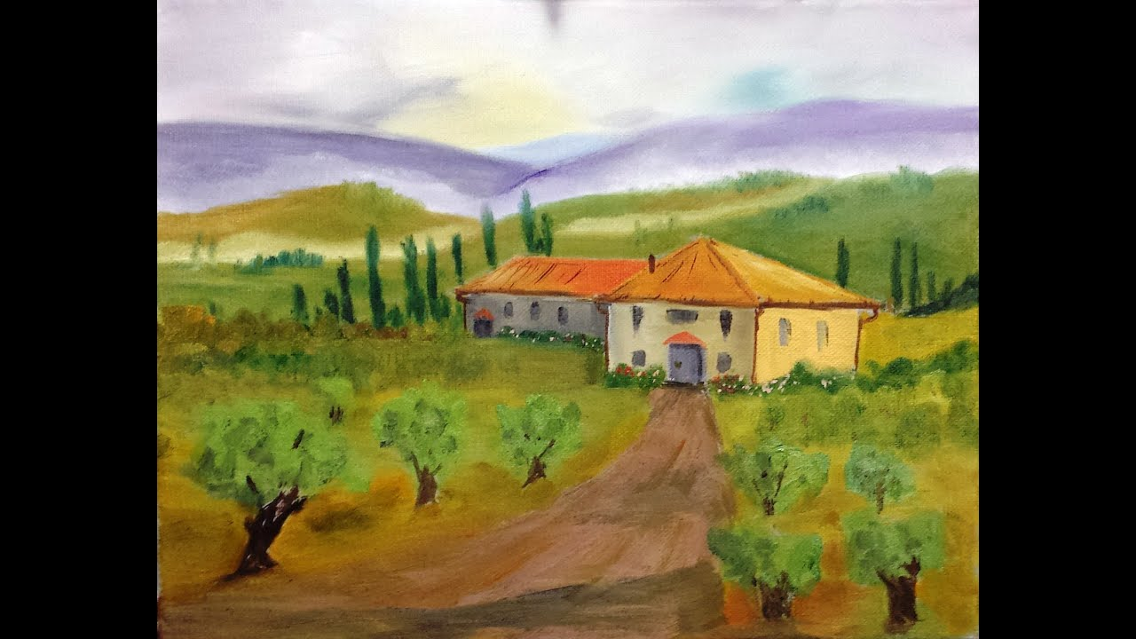 Paint along with larry hamilton march 19 2014 tuscan for House painting images