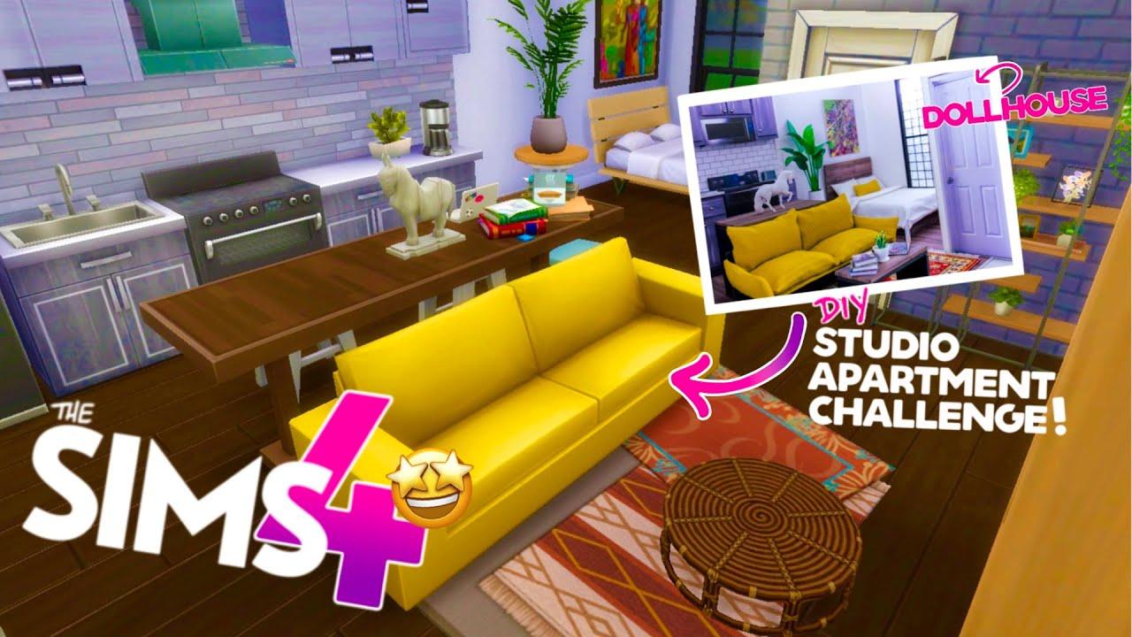Building Dollroom in Sims 4!? NO CC: Studio Apartment