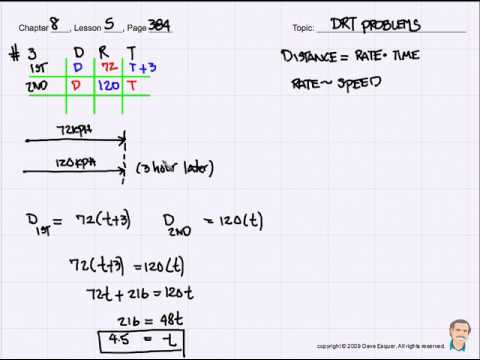 How to solve DRT Problems - Algebra 1 Tutorial - YouTube