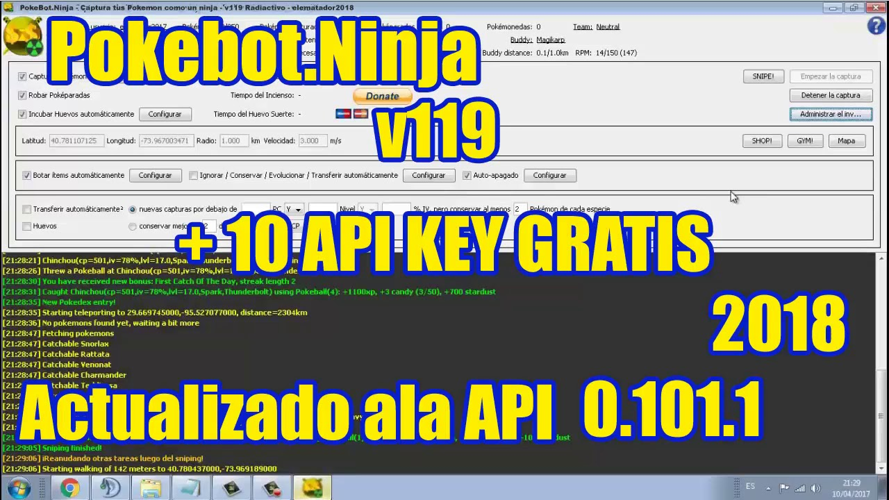 Pokebot ninja api license key | E  2019-12-28