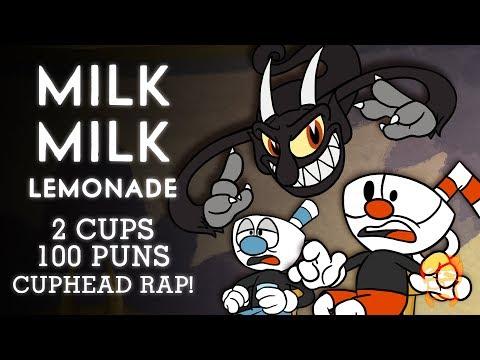MILK MILK LEMONADE   2 CUPS 100 PUNS   Animated Cuphead Rap!